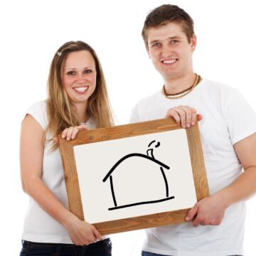 Home Couple Mortgage Real Estate Moving Together