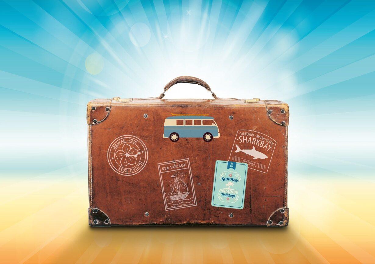 Luggage Travel Sunlight Vacations Summer