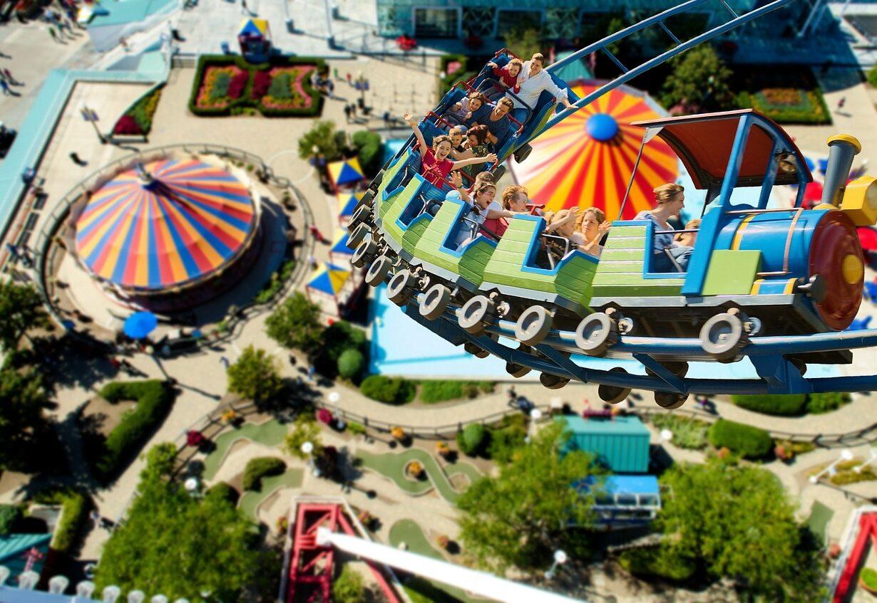 Roller Coaster Year Market Fair Ride Folk Festival