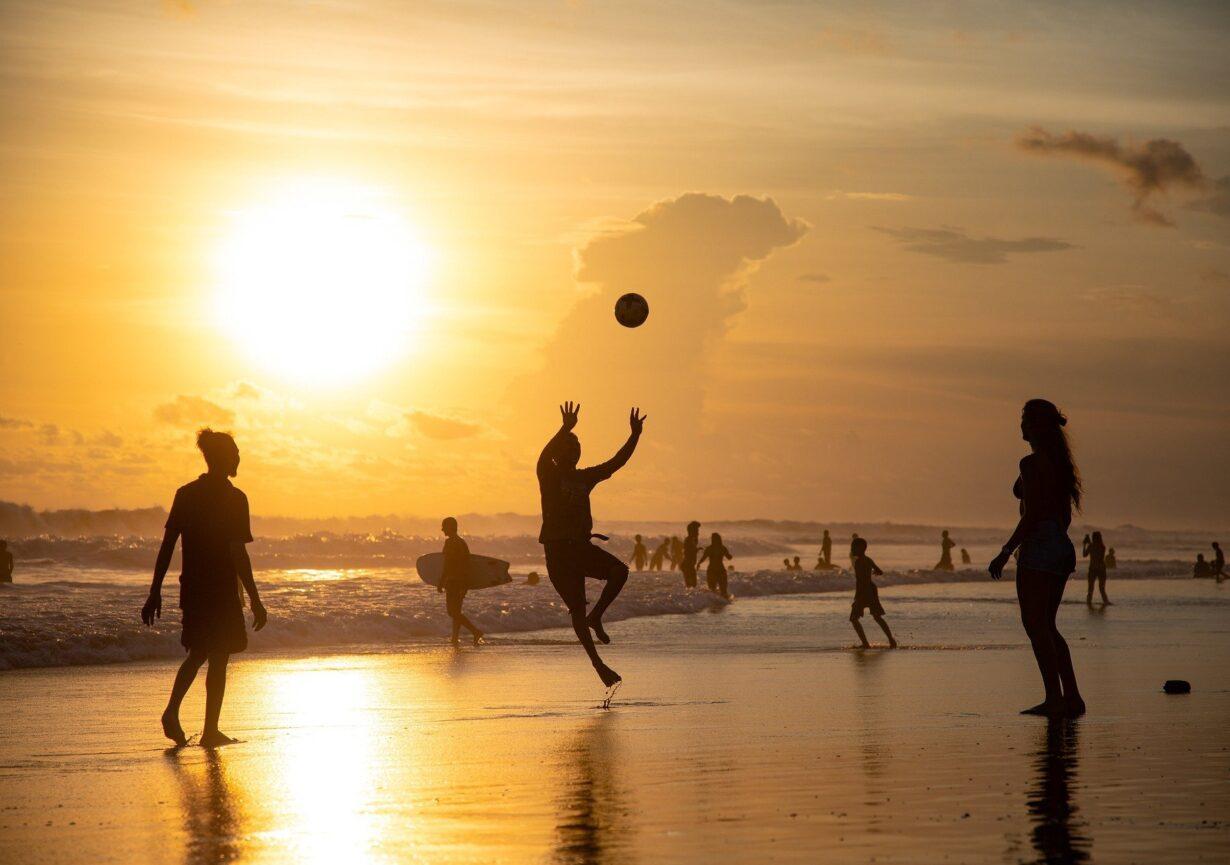 Sunset Volleyball Beach Silhouette Beach Volleyball