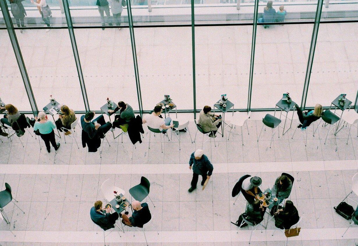 Meetings Coffee Shop People Cafe Sitting
